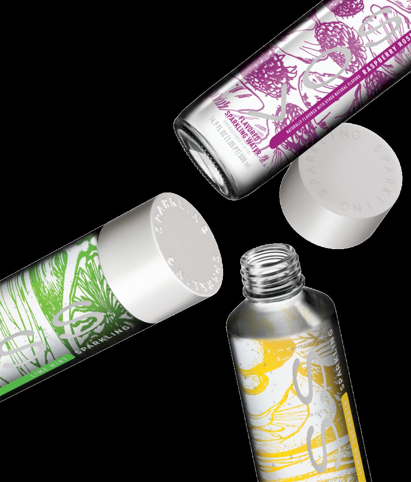 Flavored Sparkling Water Bottles