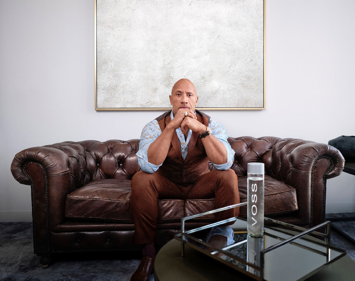 Dwayne Johnson and VOSS Water announce strategic partnership.
